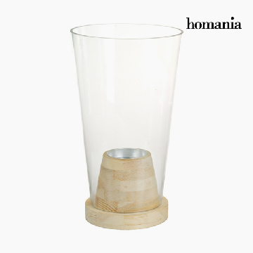 Vaas Glas Hout - Pure Crystal Deco Collectie by Homania