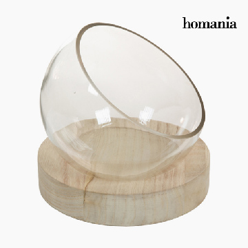 Middenstuk Glas Hout - Pure Crystal Deco Collectie by Homania