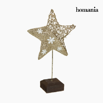 Decoratieve figuren Ster Champagne Goud by Homania