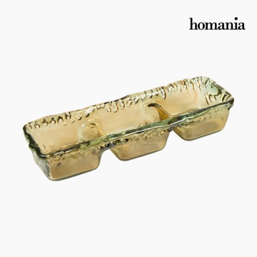Recycled Glass Centerpiece Amber - Crystal Colours Deco Collectie by Homania