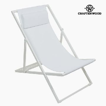 Garden chair Aluminium Textilene Wit by Craftenwood