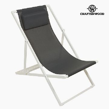 Garden chair Aluminium Textilene Grijs by Craftenwood
