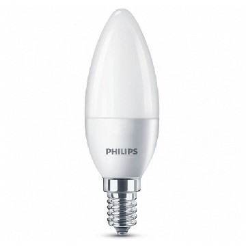 Ledlamp Kaars Philips 5,5W A+ 240 V Wit