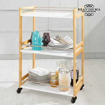 Bravissima Kitchen Bamboe Keukentrolley