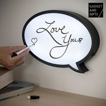 Gadget and Gifts Ledtekstballon met Marker